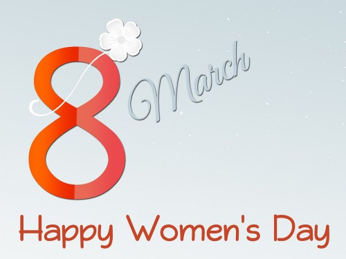 「8 march Happy Women's Day」